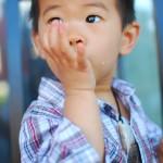 Kinoa a l'air d'apprécier... il lèche ses doigts
