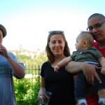 David, Elise, Chenti et papa !