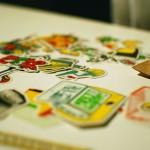 Des stickers à récupérer