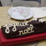 Bûche chocolat noir-caramel beurre salé