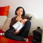 Chenti comateux sur maman