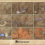 Storyboard expliquant une phase de combat basée sur le lock.