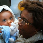 Raphaël et sa grande tante.