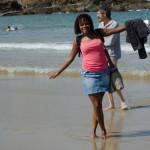 Jess les pieds dans l'eau