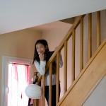Sharonne on the stairs