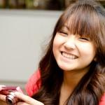 Pretty smile by pretty girl