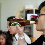 Trung with beer