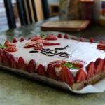 Un premier gâteau aux fraises