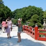 En route pour le temple Tsurugaoka Hachiman-gû