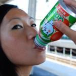 Pause boisson en attendant le train