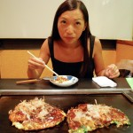 On en profite pour manger nos premiers Okonimiyaki