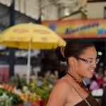 Mélissa au marché