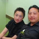 John et Thierry, fils et père