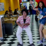 Dancing at Domino's Pizza