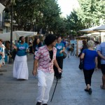 Walking in the street of Gerona