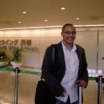 Fraîchement arrivé à l'aéroport de Narita