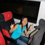 Bridget dans le Narita Express direction Tokyo