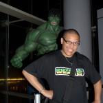 Moi et mon pote géant vert.