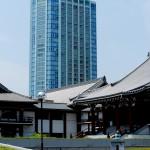 Vue typique de Tokyo - Temple vs gratte-ciel